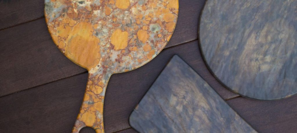 Melamine Serving Boards Petrified Wood
